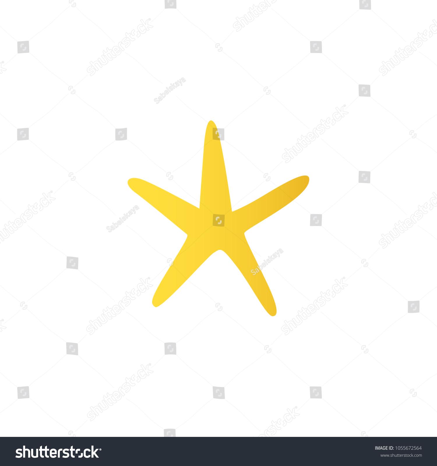 Yellow Starfish Marine Underwater Seaside Animal Stock Vector HD ...