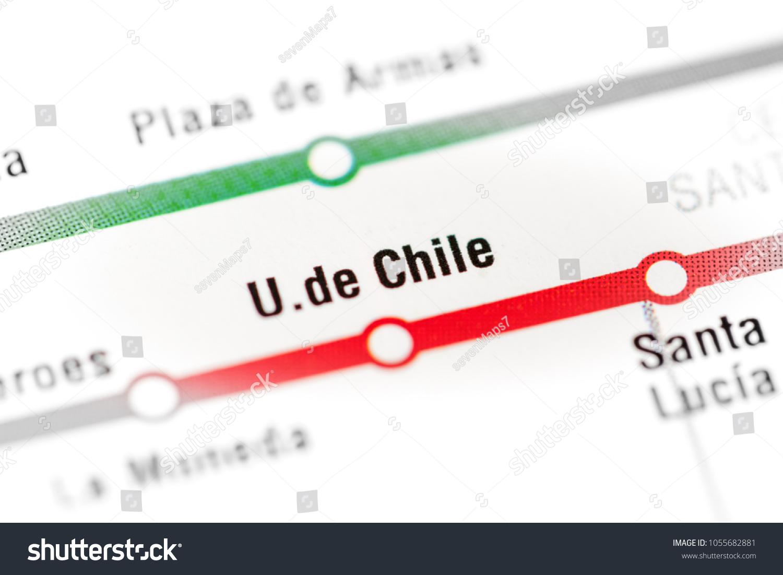 Chile Subway Map.U De Chile Station Santiago Metro Stock Photo Edit Now 1055682881
