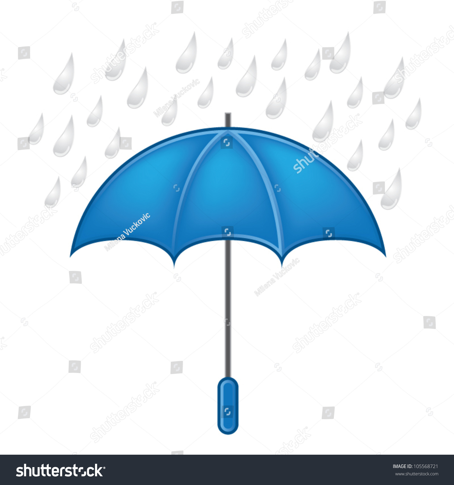 Weather Symbols Vector Set Umbrella Rain Stock Vector Royalty Free