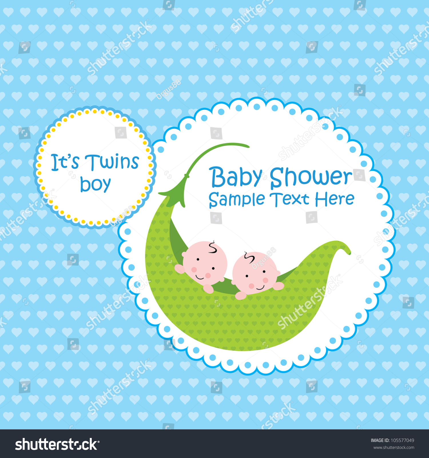 Baby boy arrival card vector by leonart image 600444 vectorstock - Baby Arrival Announcement Card Twin Baby Boy Shower Card Wallpaper Gallery Baby Boy Shower