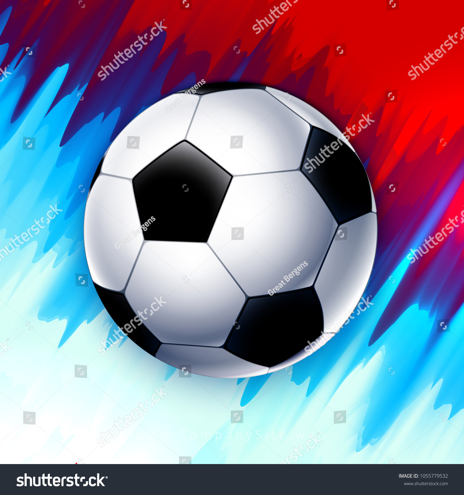 Football World Cup Russia Square Wallpaper Stock Vector Royalty