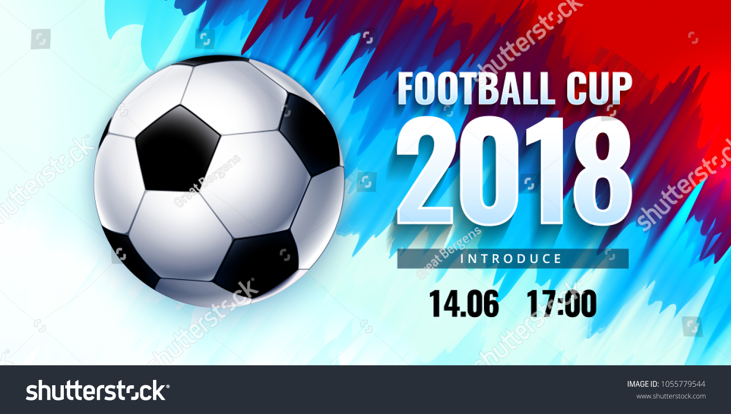 Football World Cup Russia Wallpaper Color Stock Vector Royalty Free
