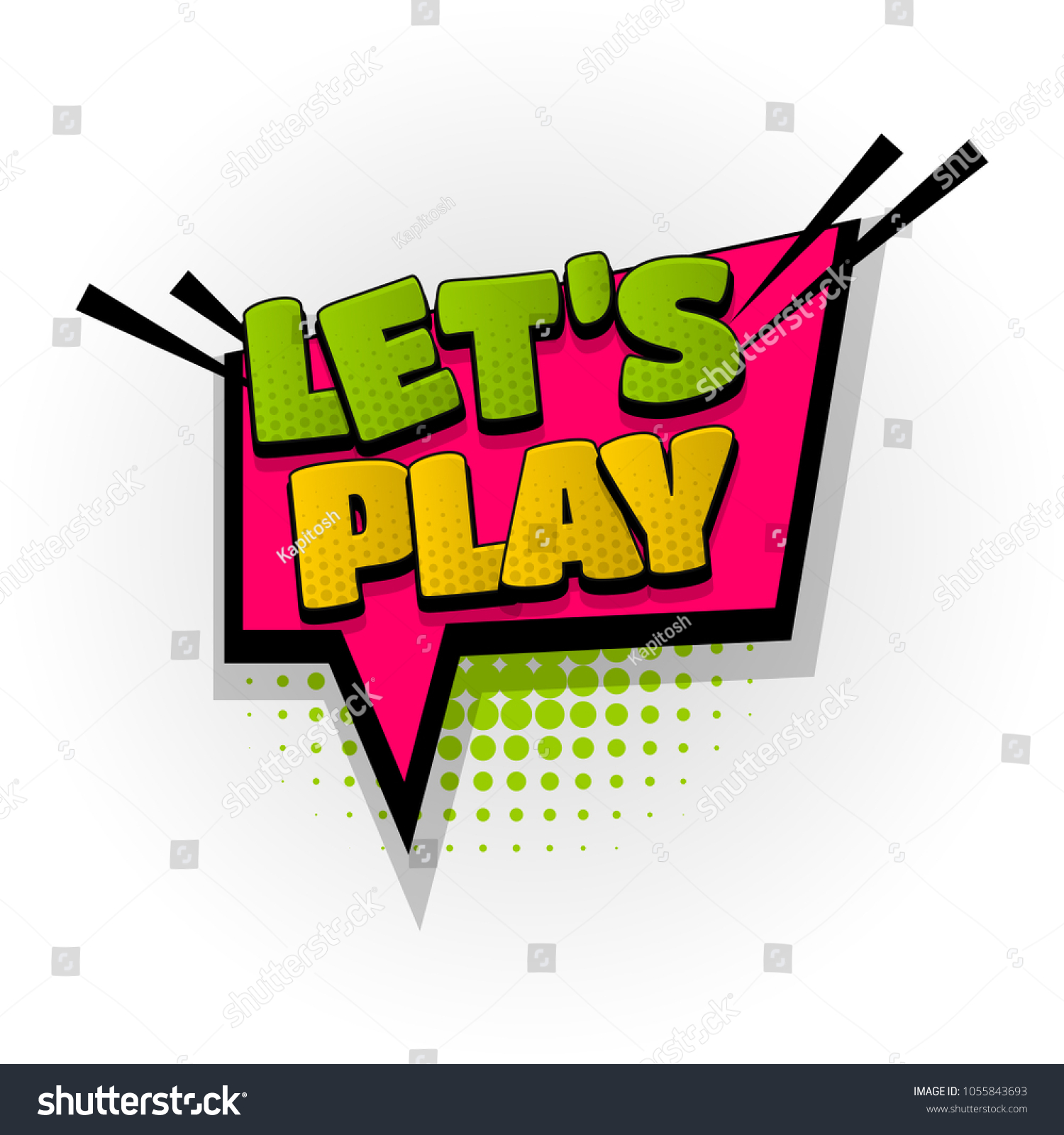 Play Game Win Hand Drawn Pictures Stock Vector 1055843693 - Shutterstock