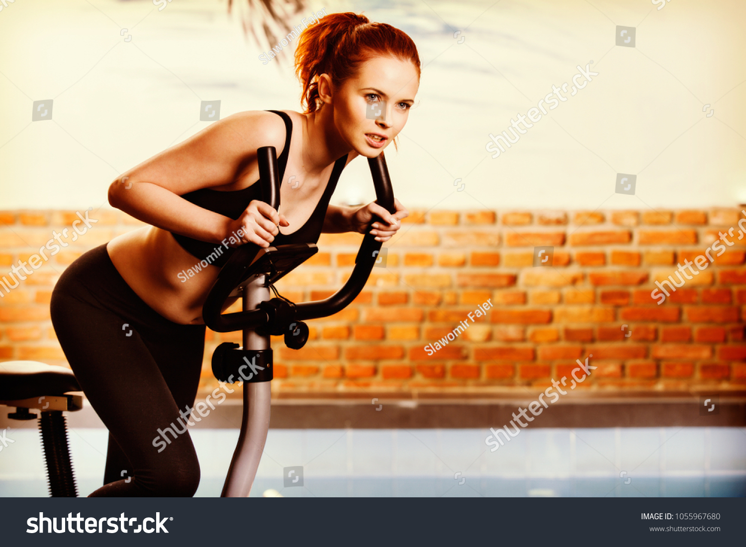 Active Young Woman Doing Exercise On Stock Photo (Edit Now