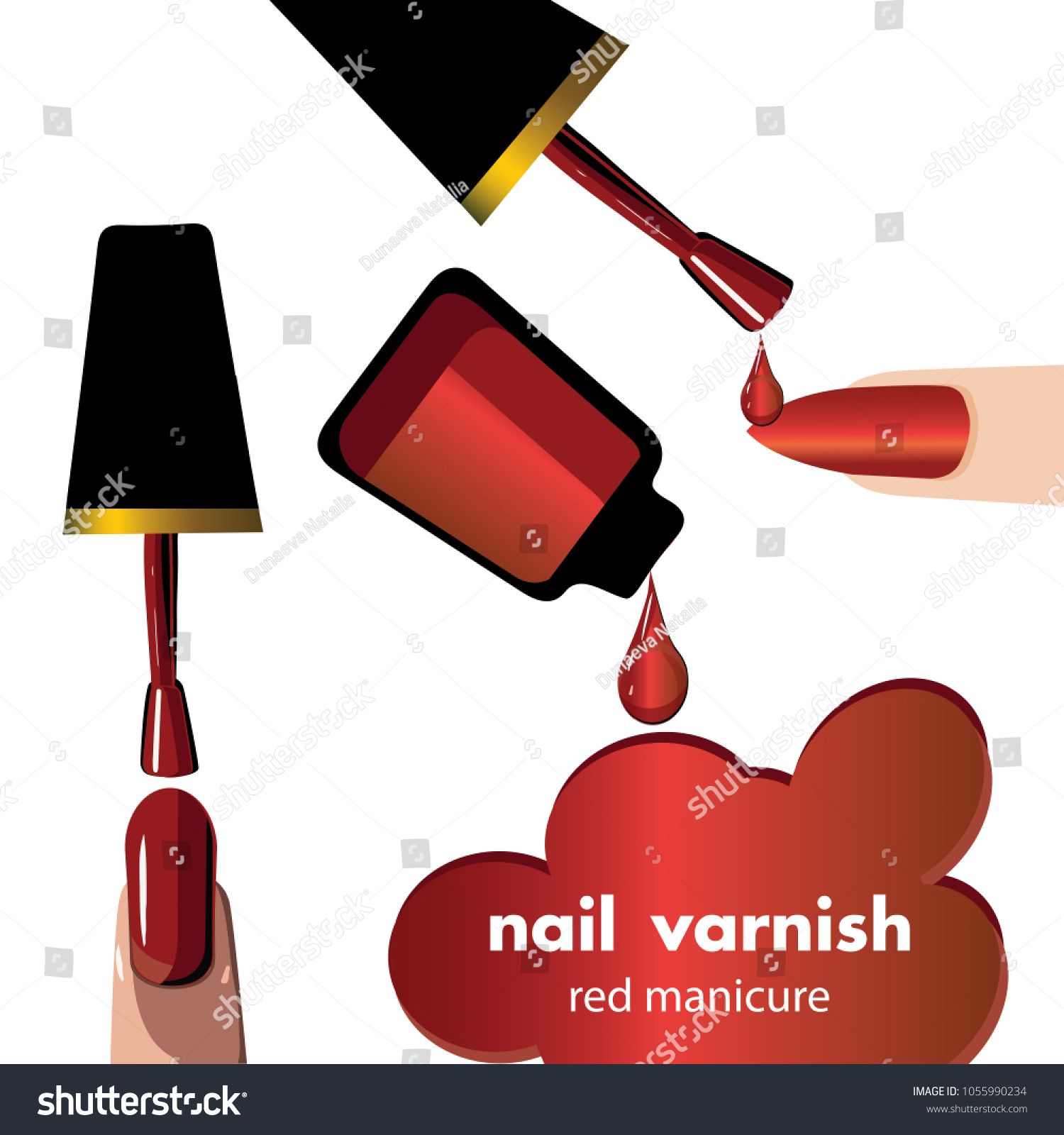 Nail Polish Best Color Palette Template Stock Vector 1055990234 ...