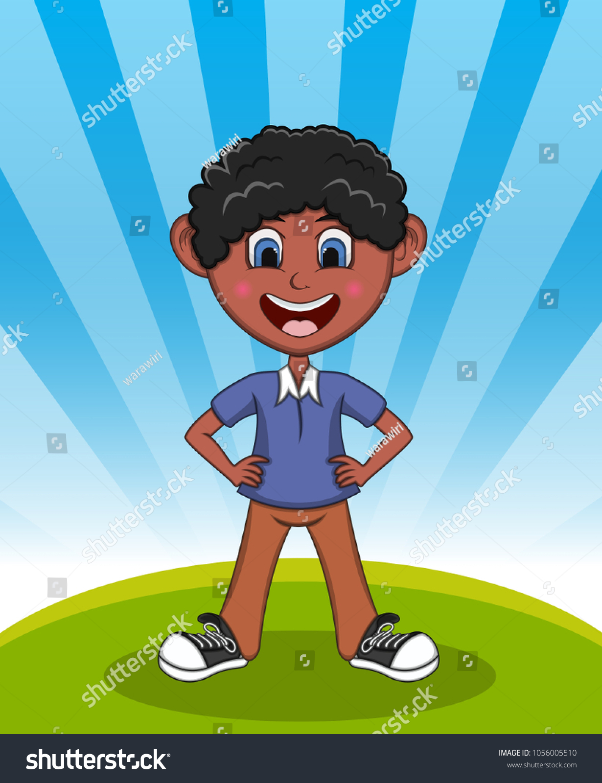 handsome little boy background cartoon vector stock vector