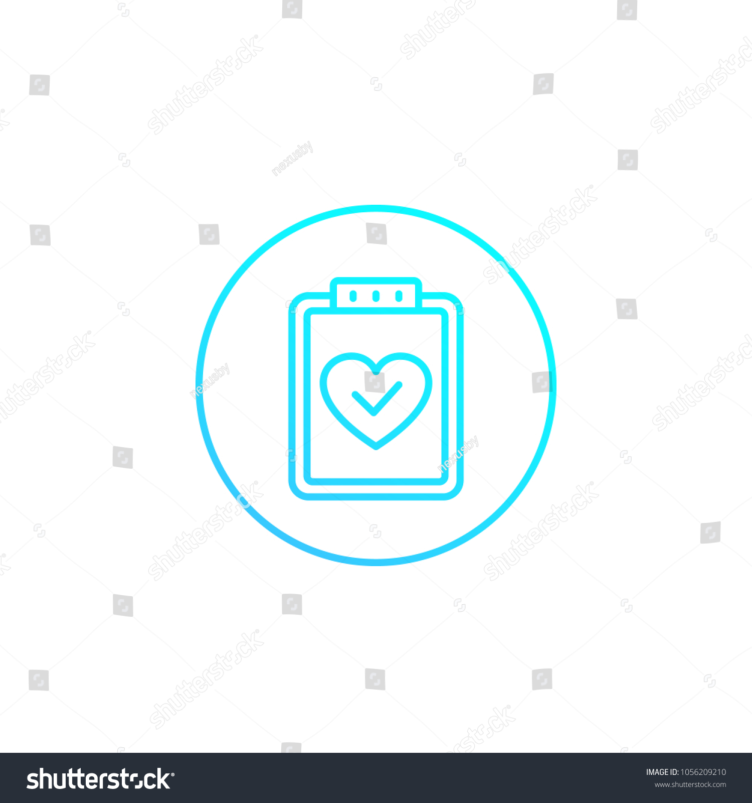 Health Test Medical Plan Icon On Stock Vector Royalty Free