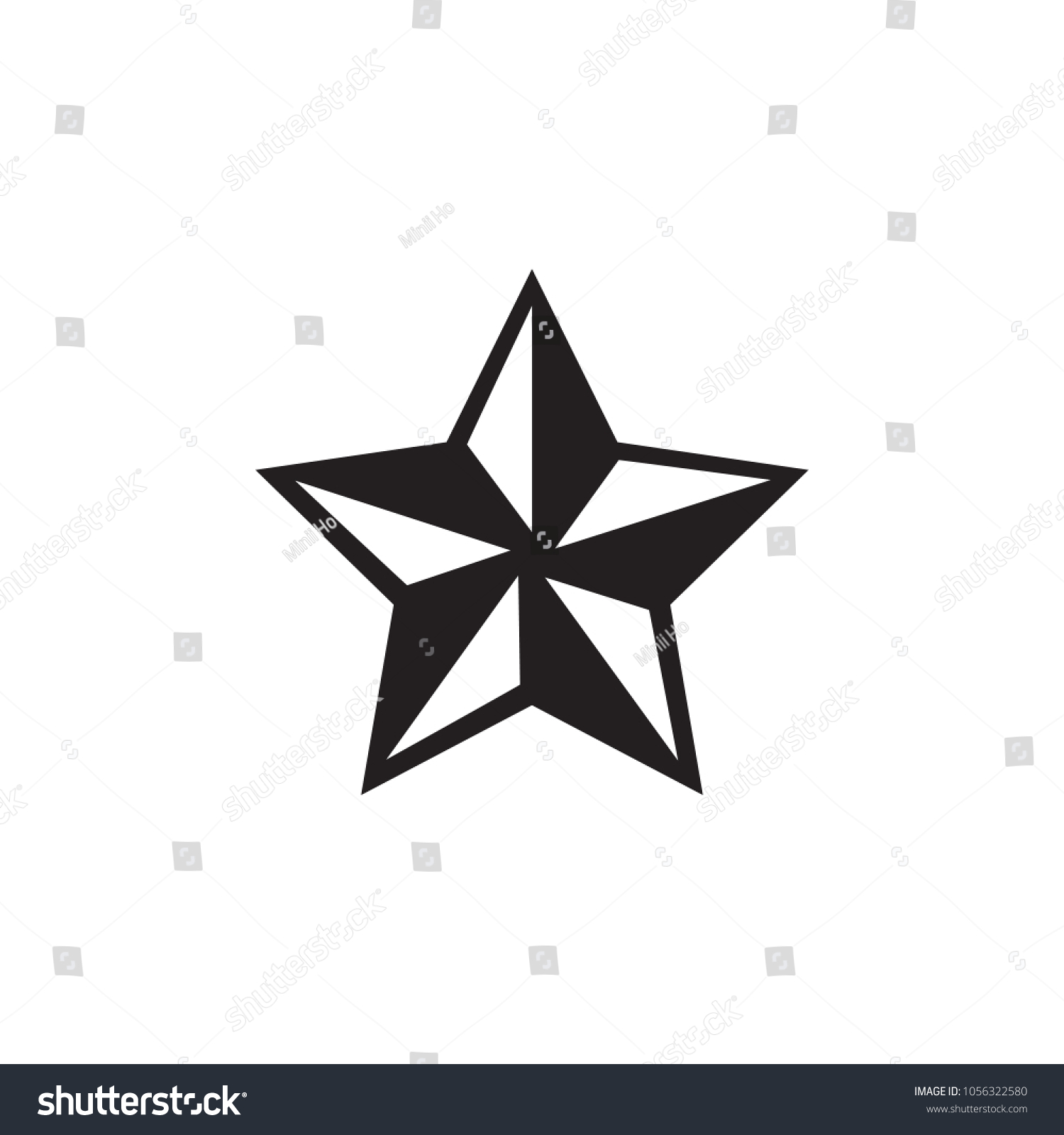 black white nautical star stock vector 1056322580 shutterstock rh shutterstock com nautical star vector free