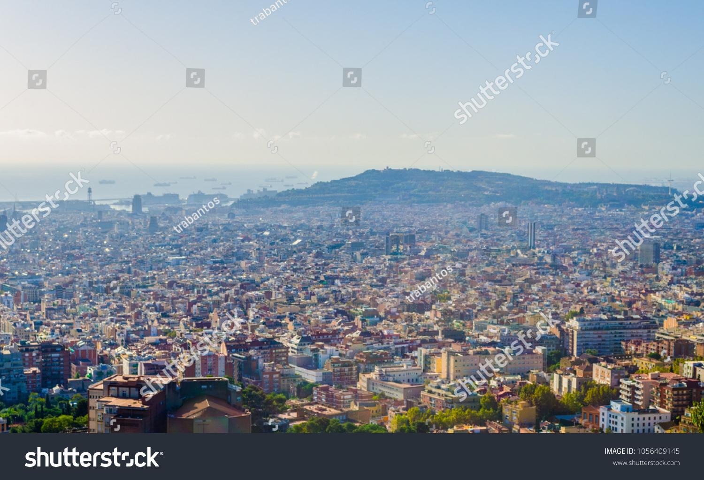 Aerial View Barcelona Spain Stockfoto Jetzt Bearbeiten 1056409145