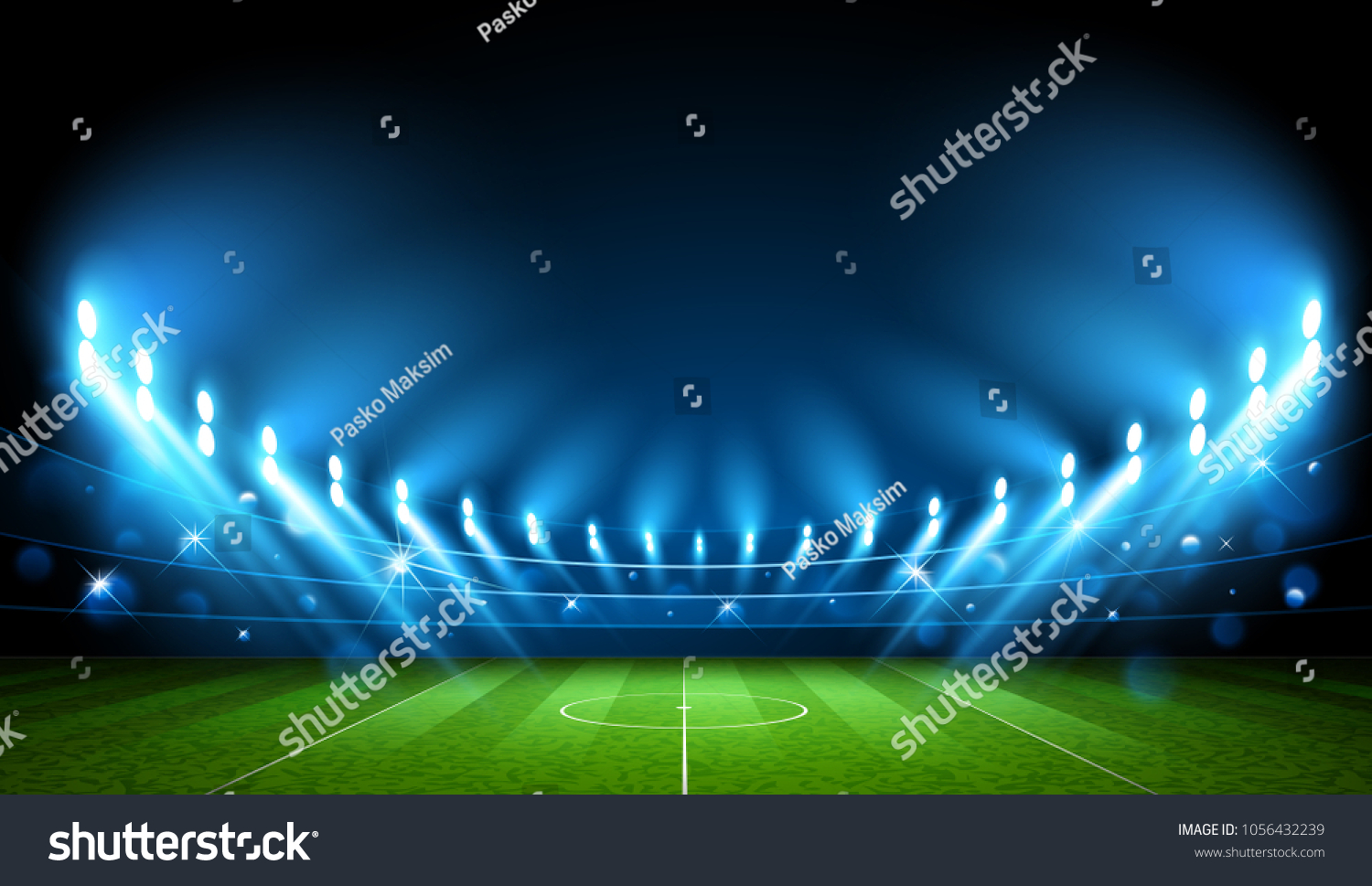 Public Buildings. Football Arena. World Cup Vector illustration #1056432239