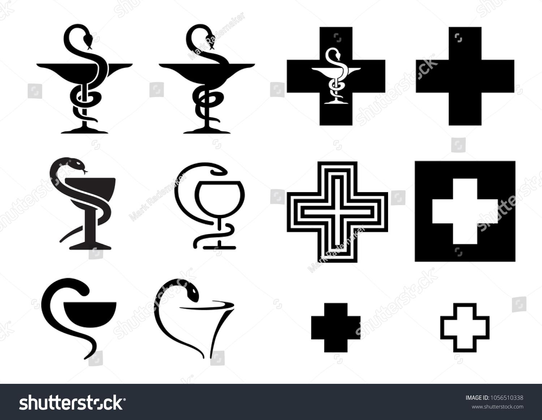 Pharmacy Medical Pharma Snake Doctor Drugstor Stock Vector