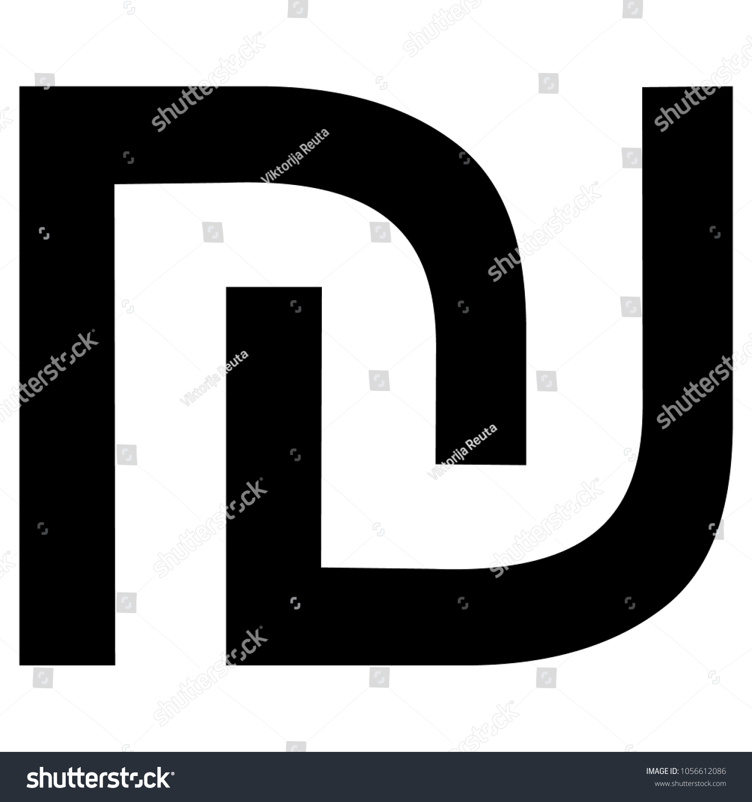 New Israeli Shekel Currency Symbol Ils Stock Vector Royalty Free