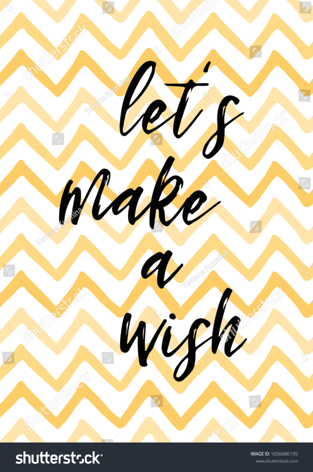 Lets Make Wish Inspirational Quote About Stock Vector Royalty ...