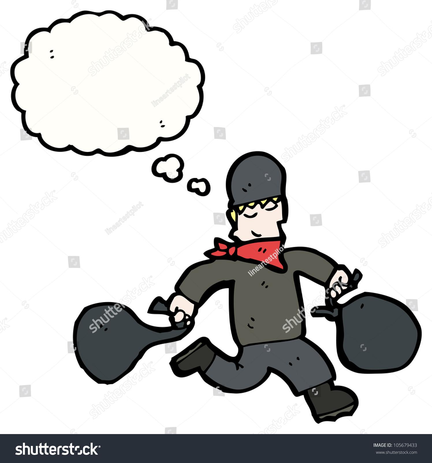 Cartoon Bank Robber Bags Swag Stock Illustration 105679433