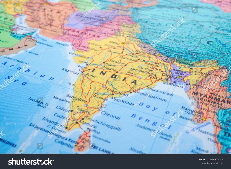 India Map Geographic World Globe Stock Photo Edit Now 1056823985
