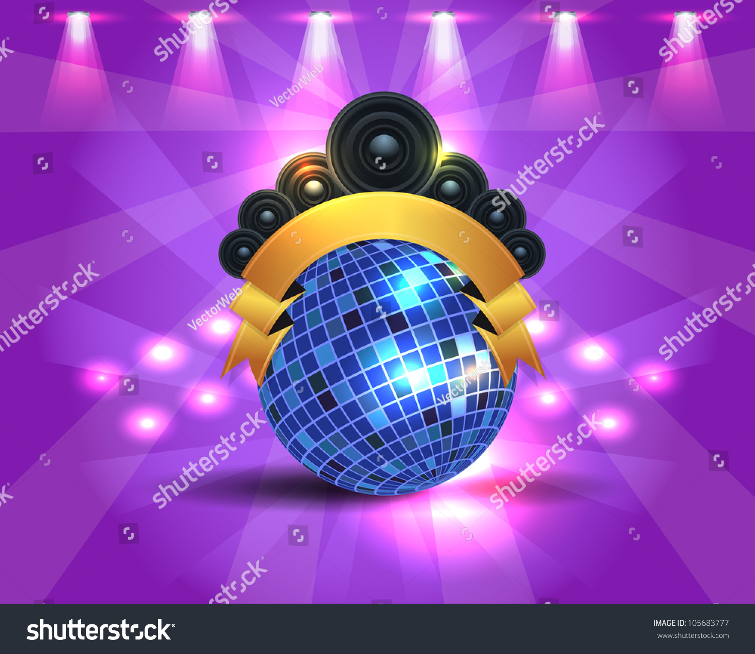 Dance Party Banner Background Flyer Templates Stock Vector ...