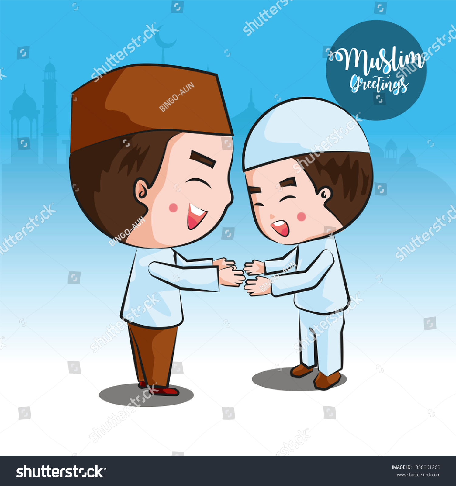 Touching hand greeting muslims world stock vector hd royalty free touching hand is the greeting of the muslims of the world m4hsunfo