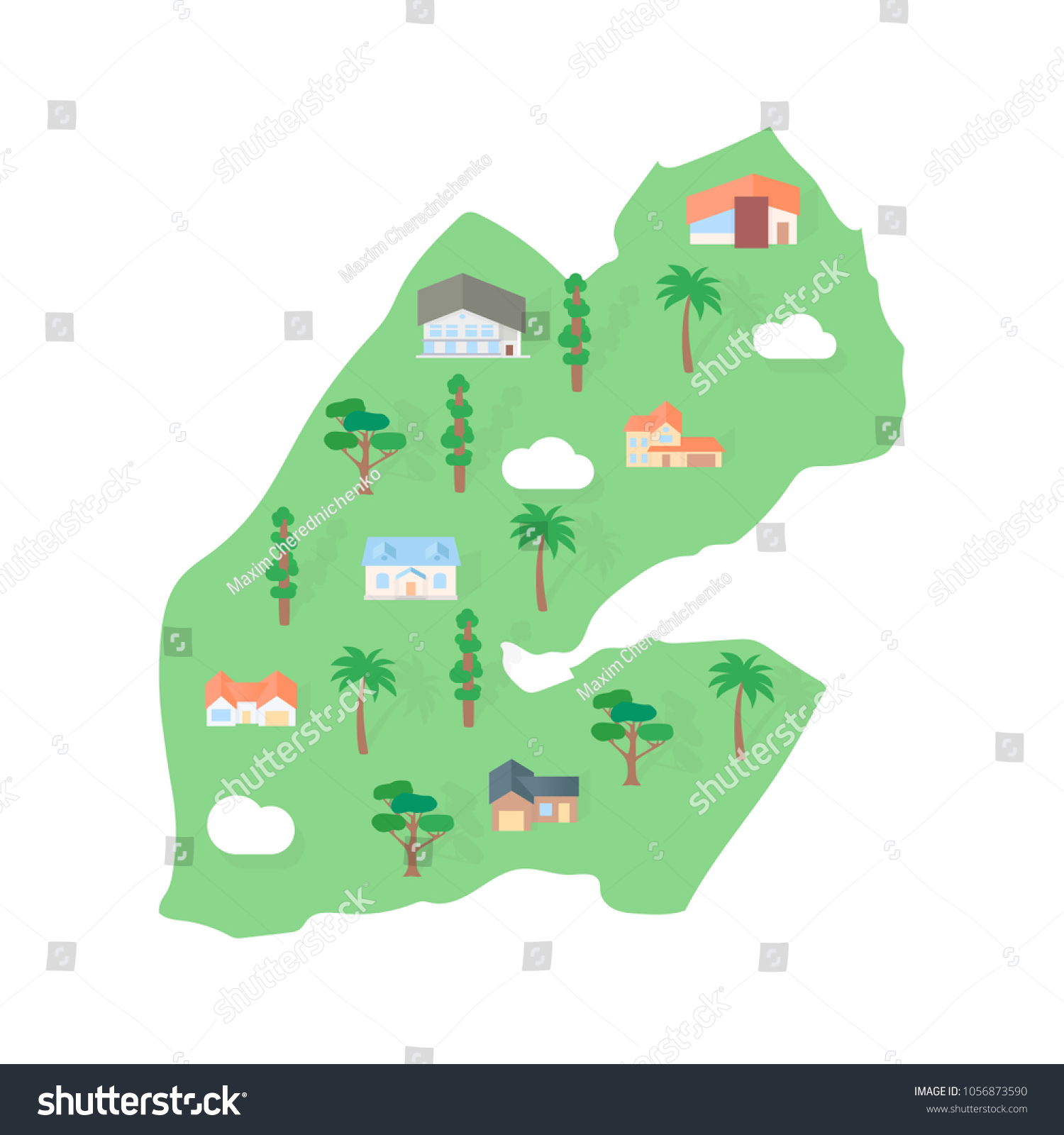 Djibouti African Country Map Real Estate Stock Vector (Royalty Free ...