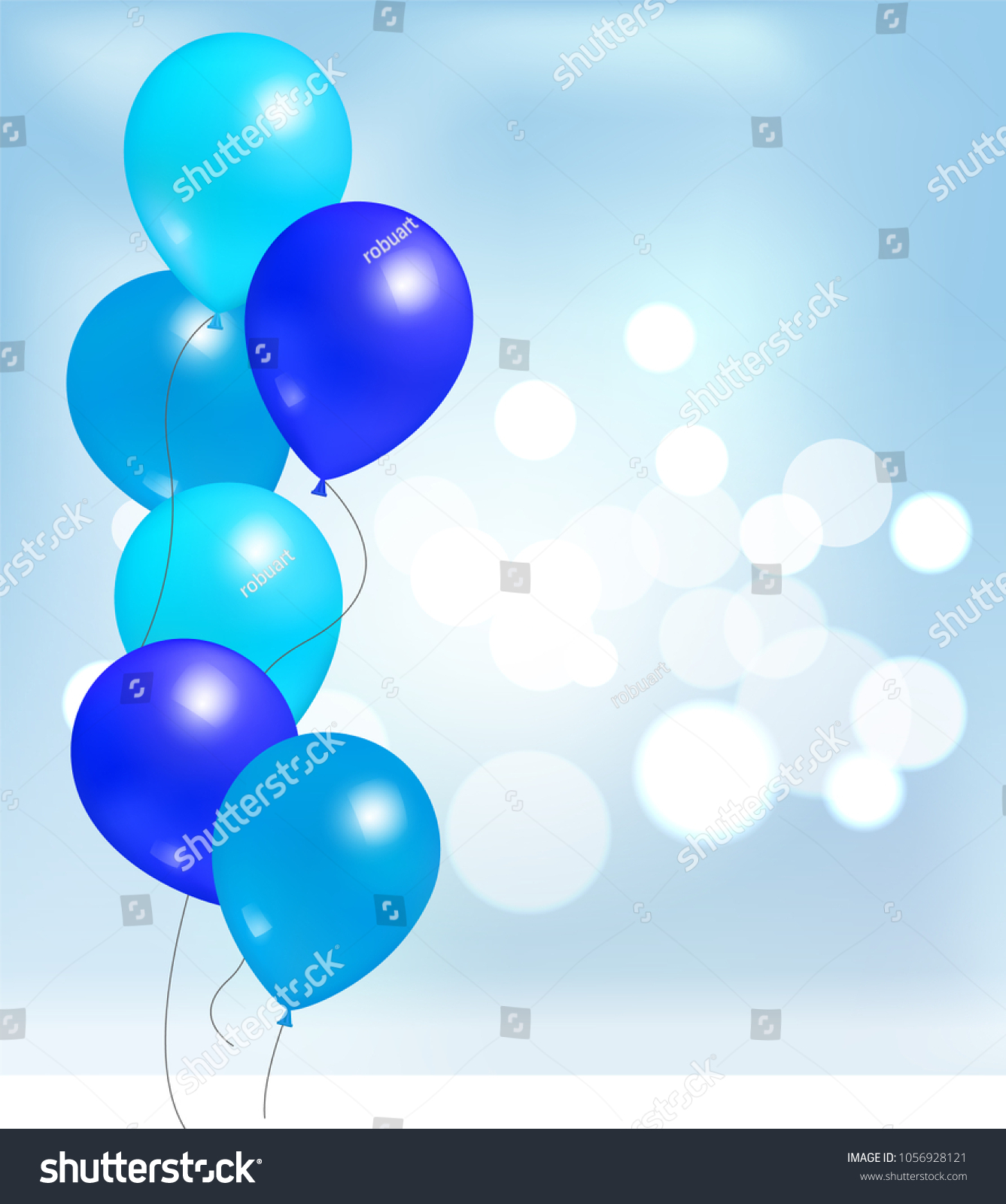 Balloons For Party Decorations Birthdays And Anniversaries Rubber Balloon Of Blue Color In Inflatable