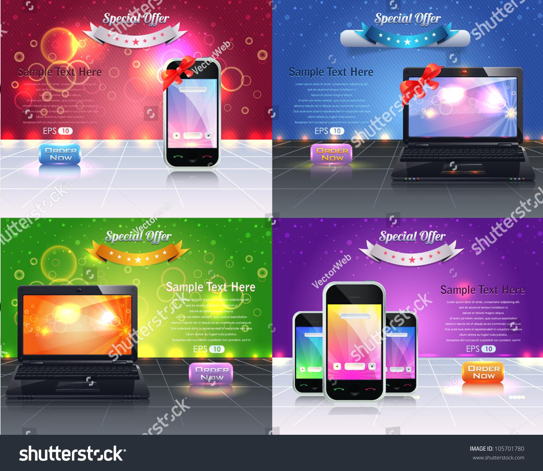 Web Banner Template Vector Design Stock Vector 105701780 ...