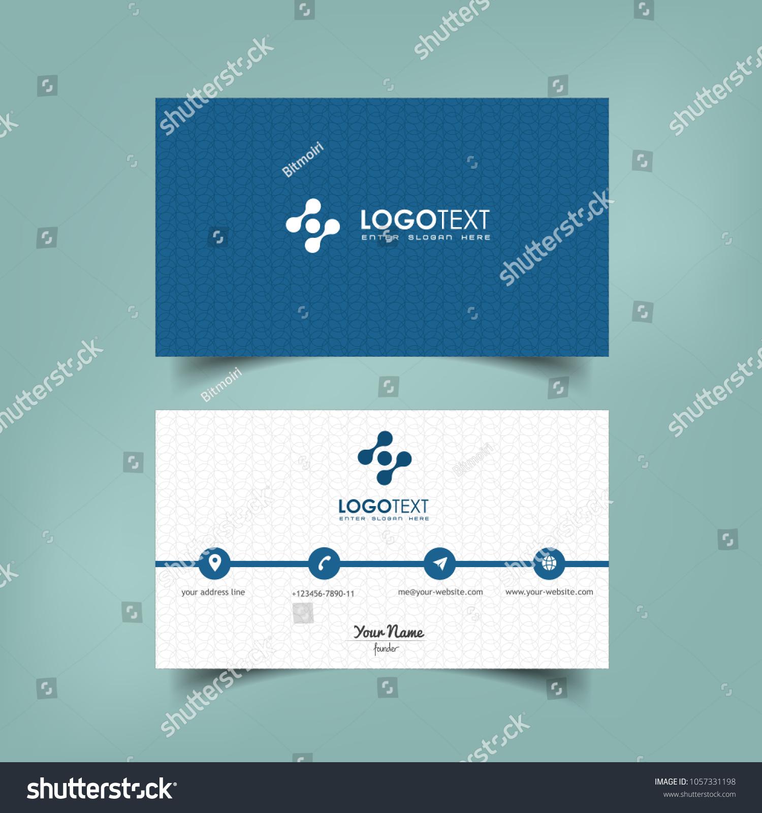 Simple Elegant Business Card Vector Templates Stock Photo (Photo ...