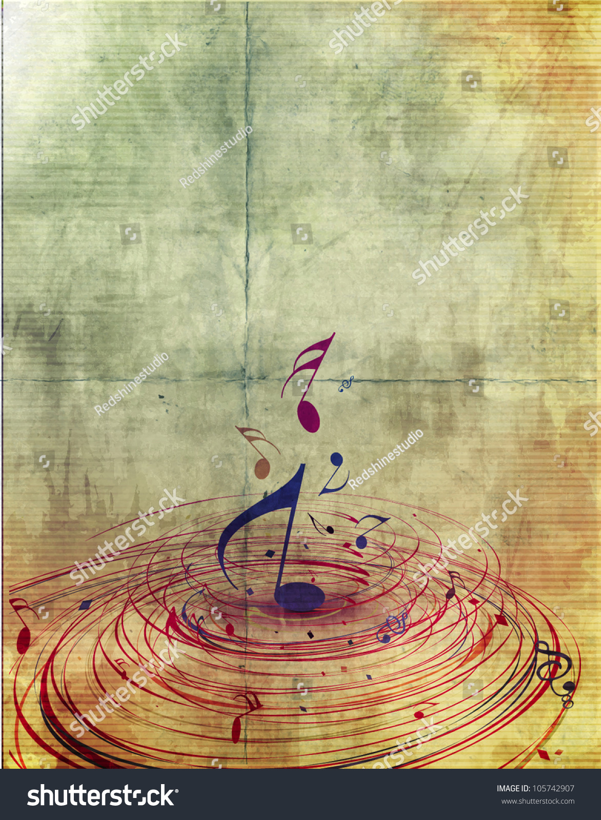 abstract music notes design music background stock vector 105742907