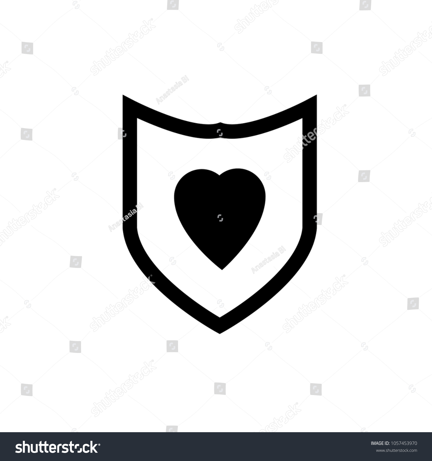 Protection Icon Shield Sign Healthcare Safety Stock Vector Royalty
