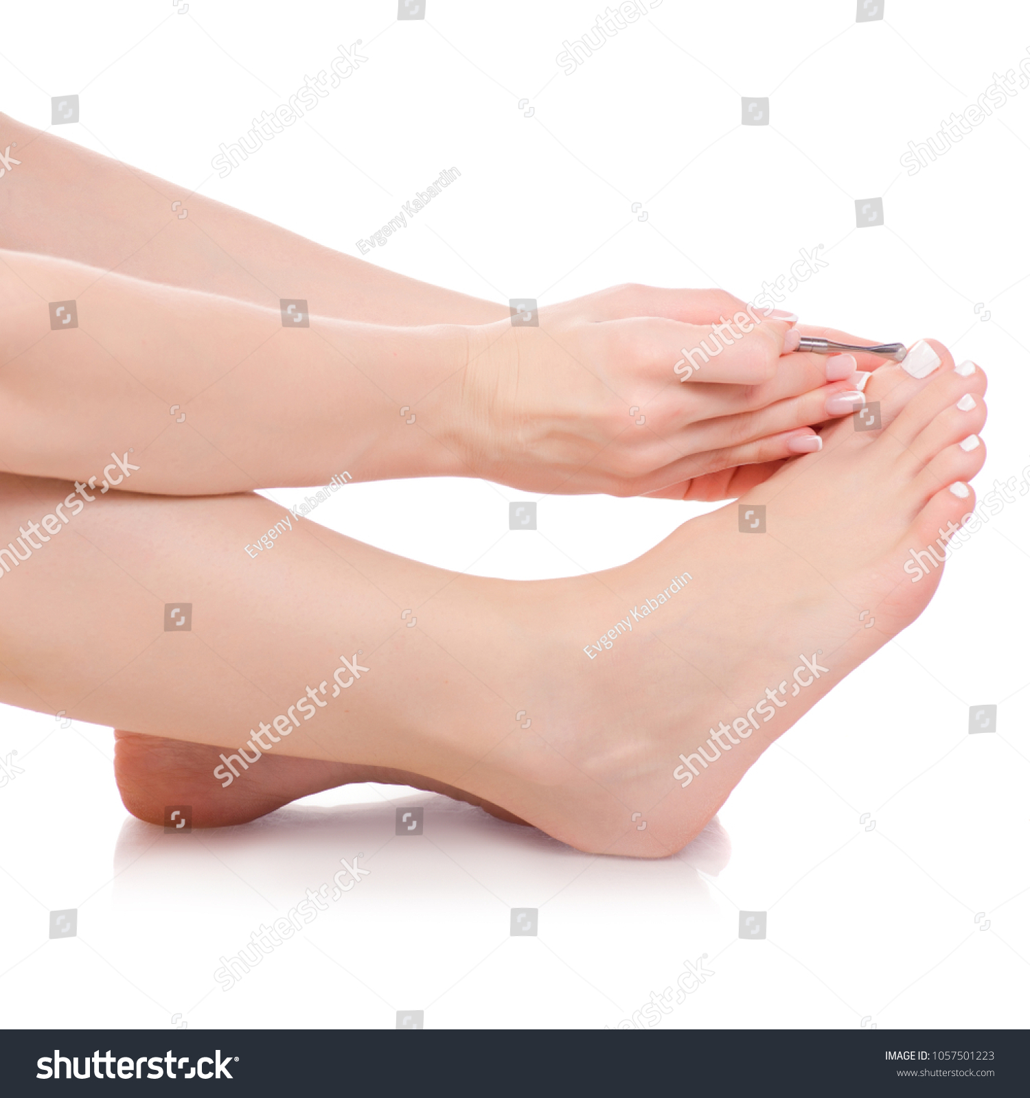 Female Feet Legs Pusher Nails Hands Stock Photo (Royalty Free ...
