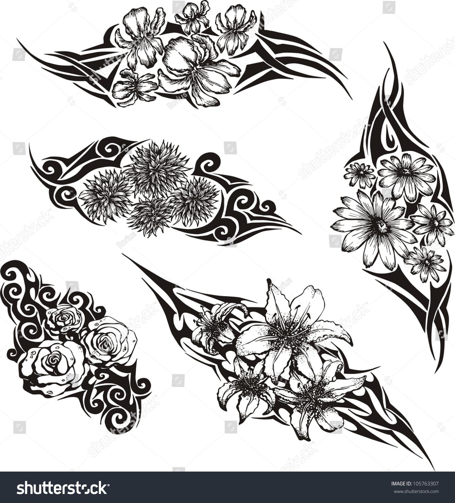 Татуировки в чёрно белом цвете