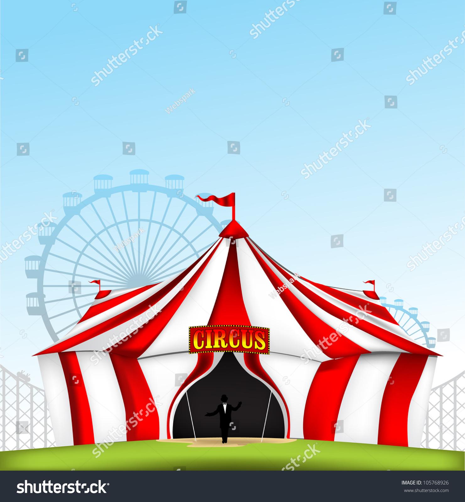 Circus Tent Stock Vector Illustration 105768926 : Shutterstock