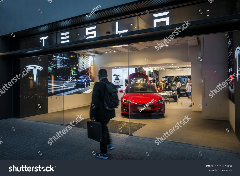 Barcelona Spain March 2018 Tesla Inc Stock Photo (Edit Now