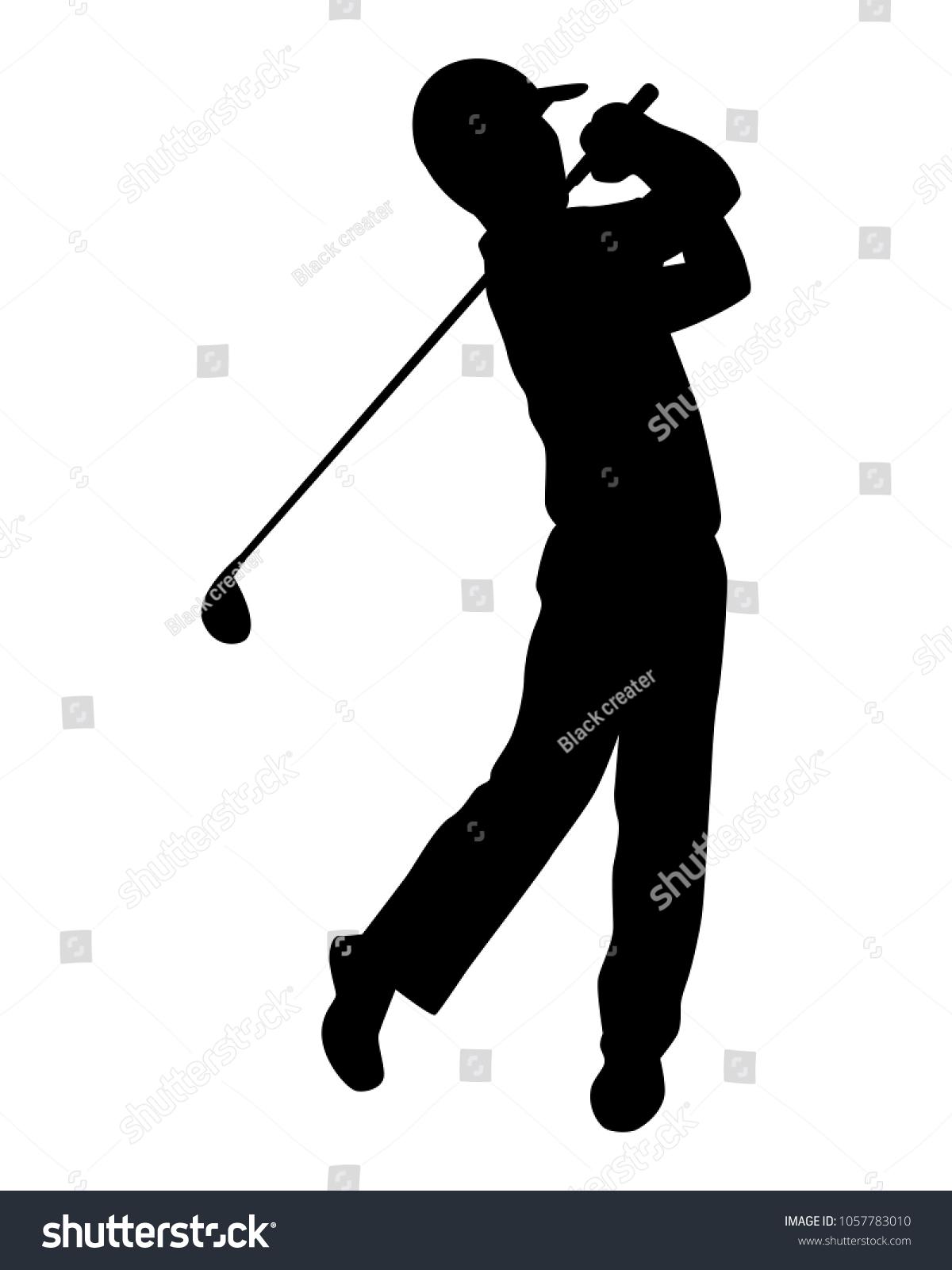 Golf Player Silhouette Vector Ez Canvas