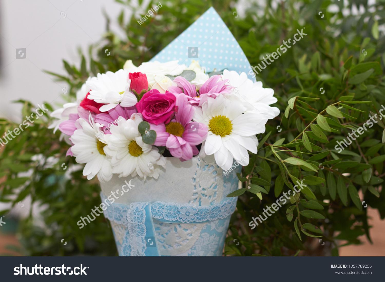 Making Beautiful Little Summer Bouquet Flowers Stock Photo Edit Now