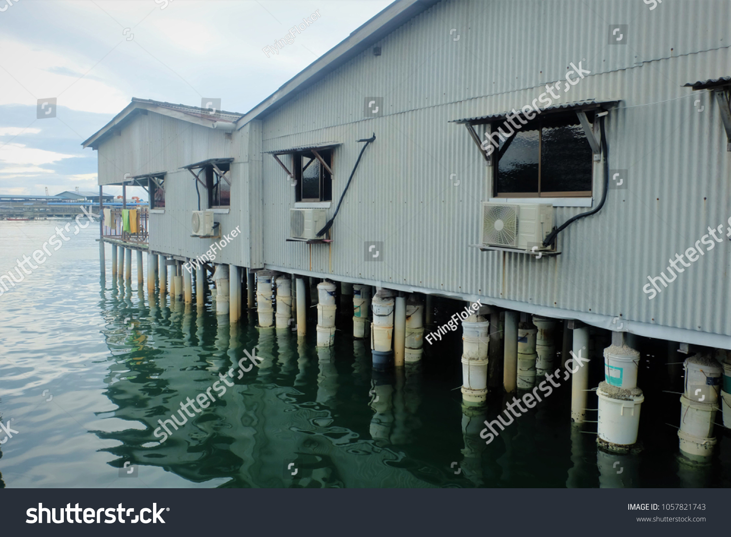 Construction Local Pile Foundation They All Stock Photo Edit Now 1057821743