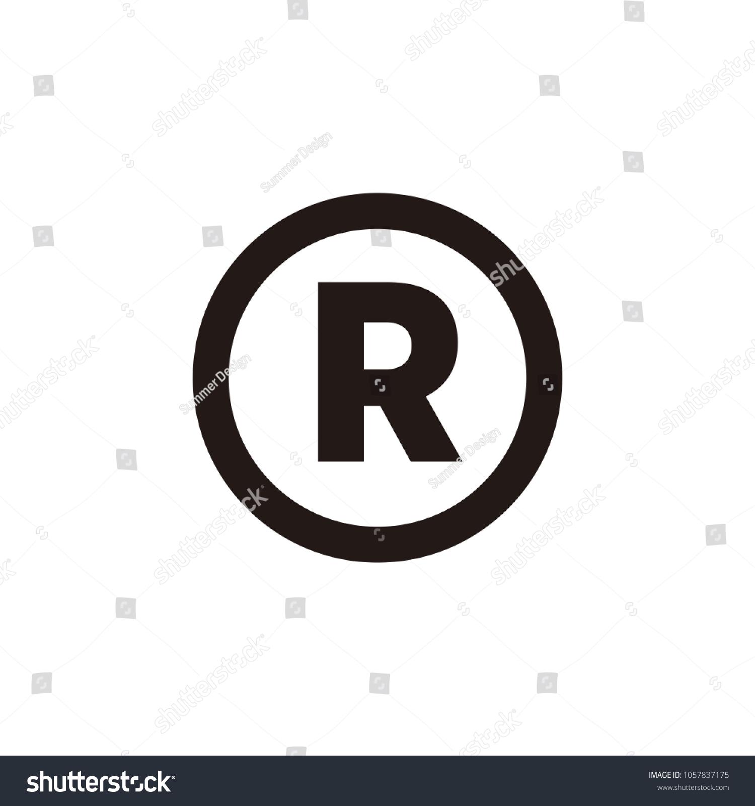 Registered trademark icon symbol stock vector 1057837175 shutterstock registered trademark icon symbol buycottarizona Gallery