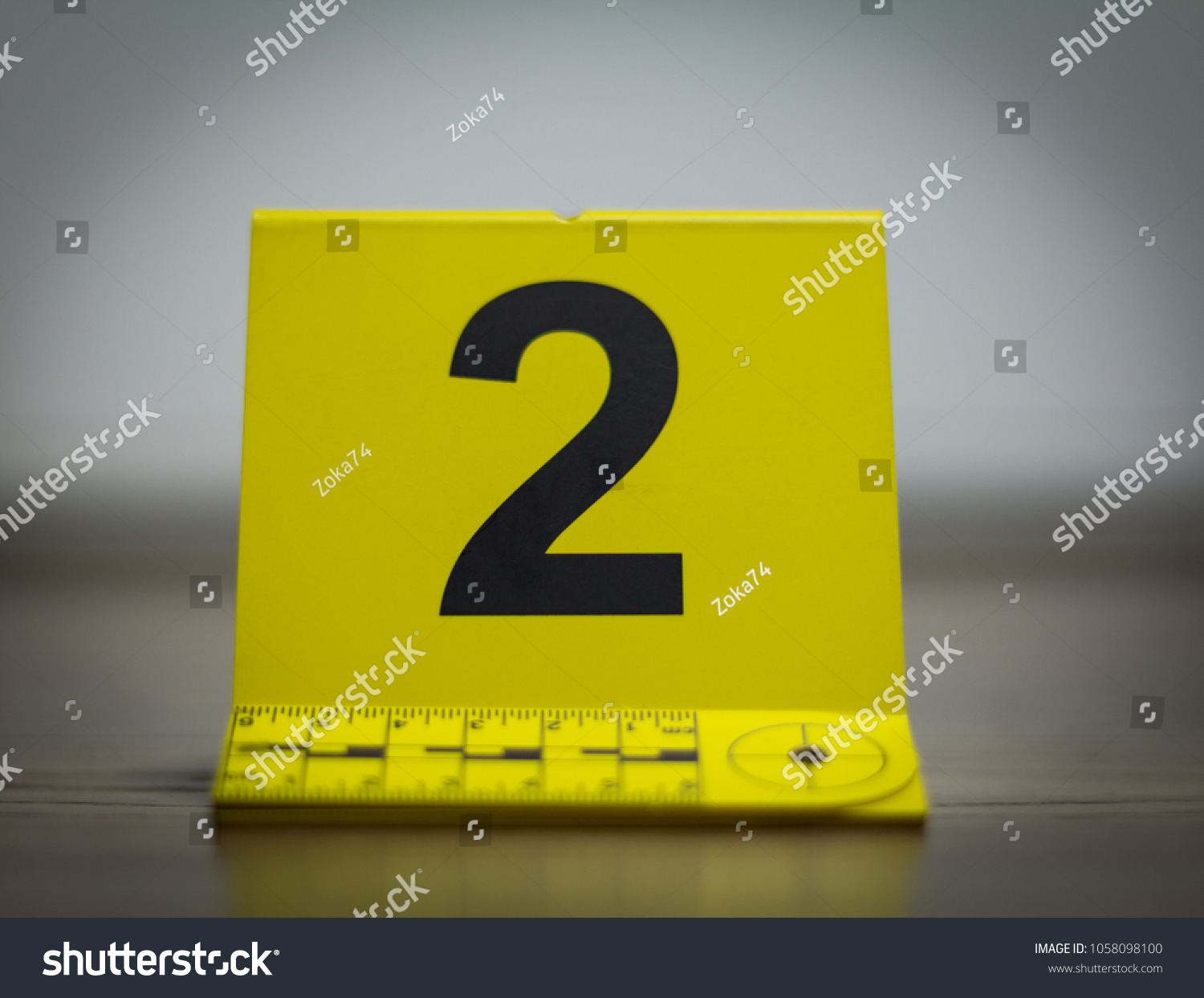 Police Evidence Marker Forensic Equipment Isolated Stock Photo Edit Now 1058098100