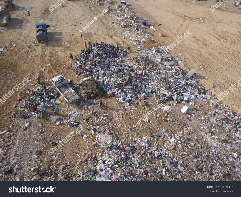 Sky View Garbage Disposal Centre Malaysia Stock Photo (Edit