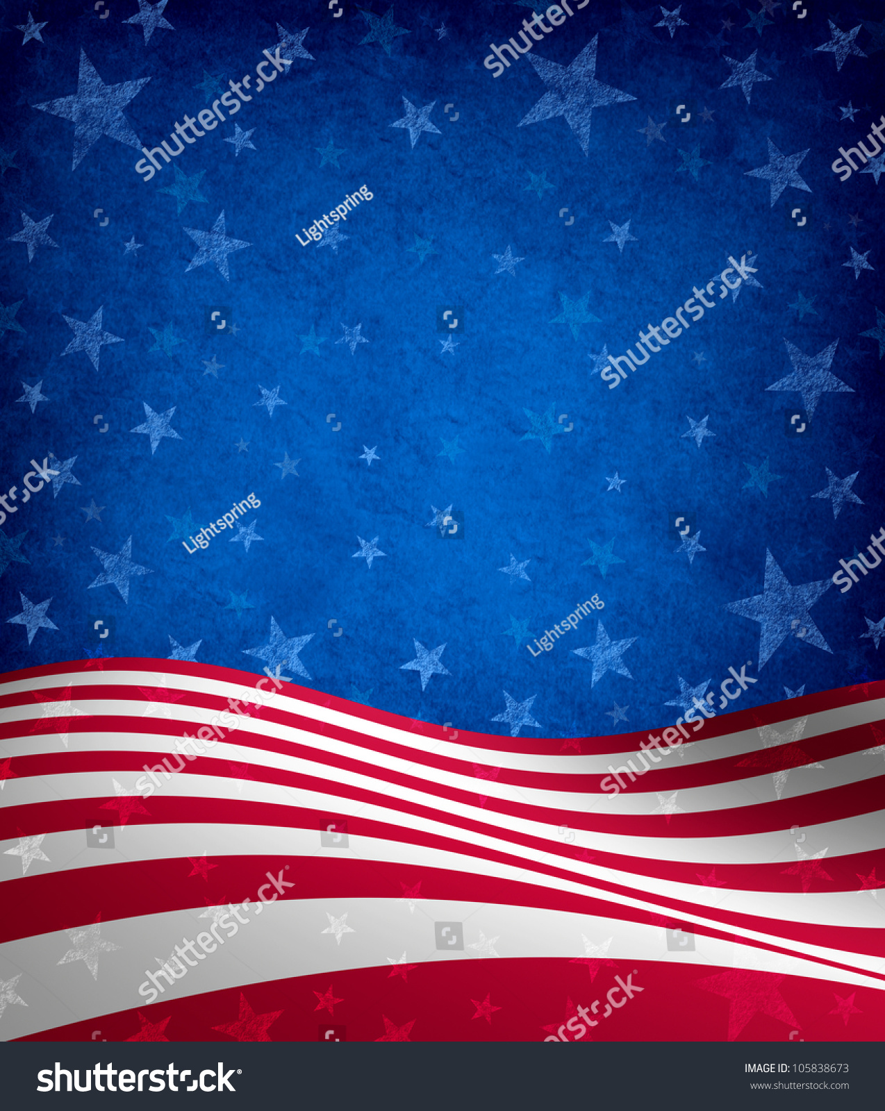 Fourth Of July Background With Stars And Stripes Celebration Theme