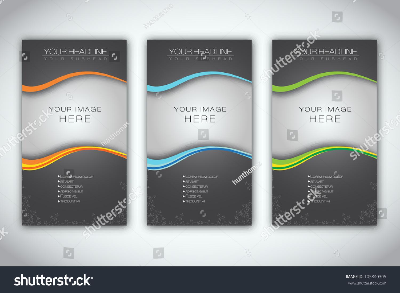 Set Blank Brochure Template Eps 10 Vector Stock Vector Royalty Free