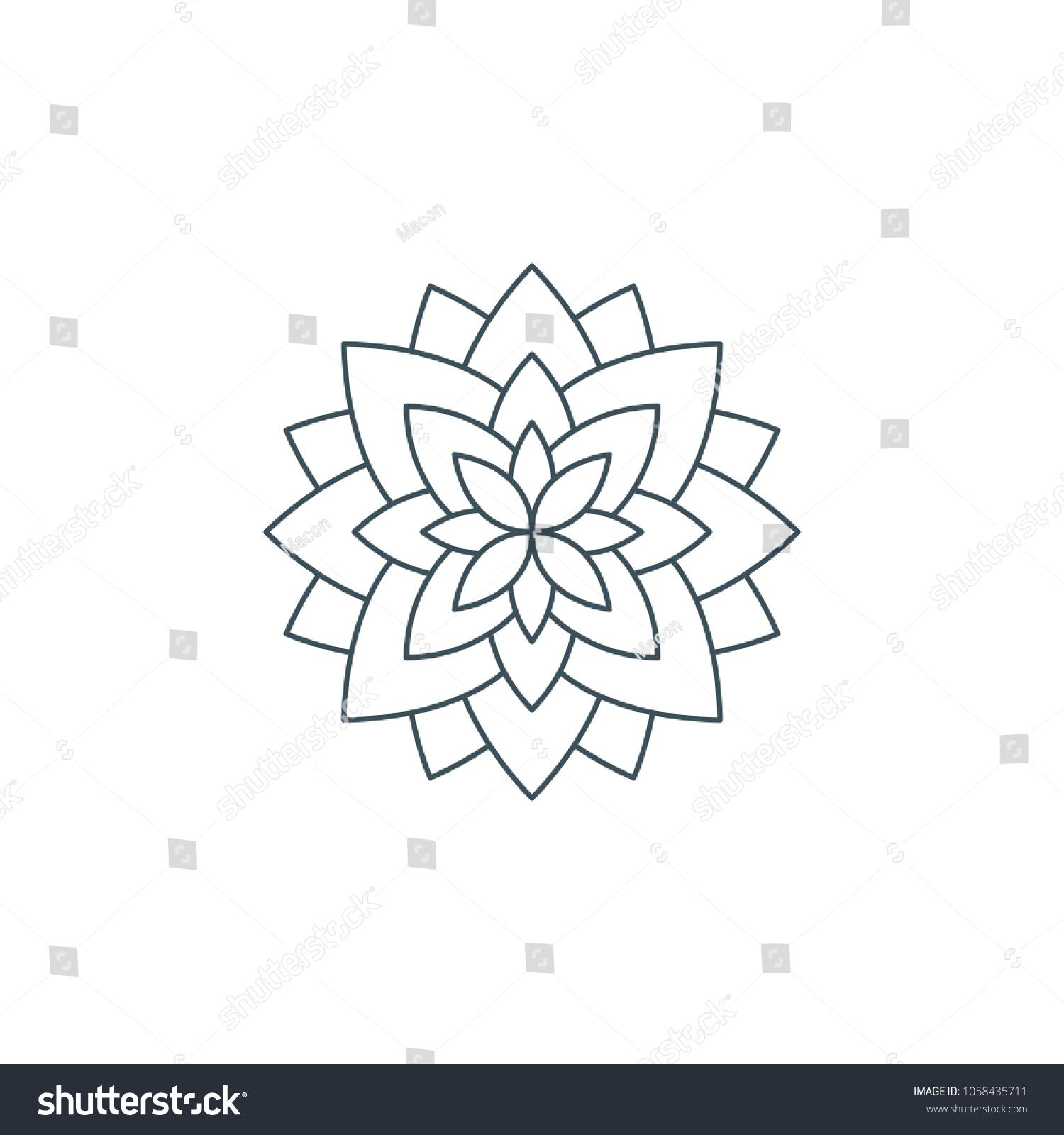 Line lotus flower flower life sacred stock illustration 1058435711 line lotus flower or flower of life sacred geometry mandala ornament esoteric or izmirmasajfo