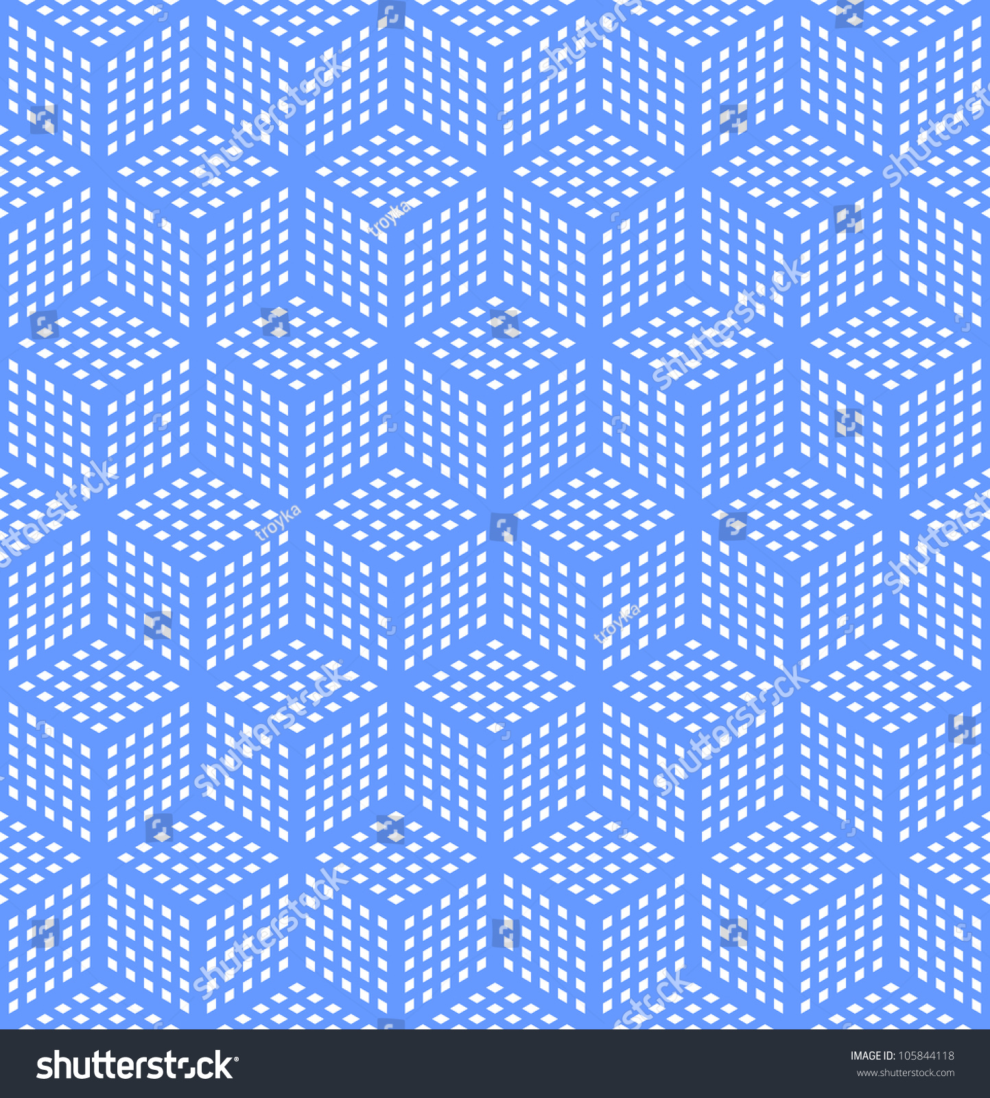 Seamless geometric blue pattern optical illusion texture for Geometric illusion art