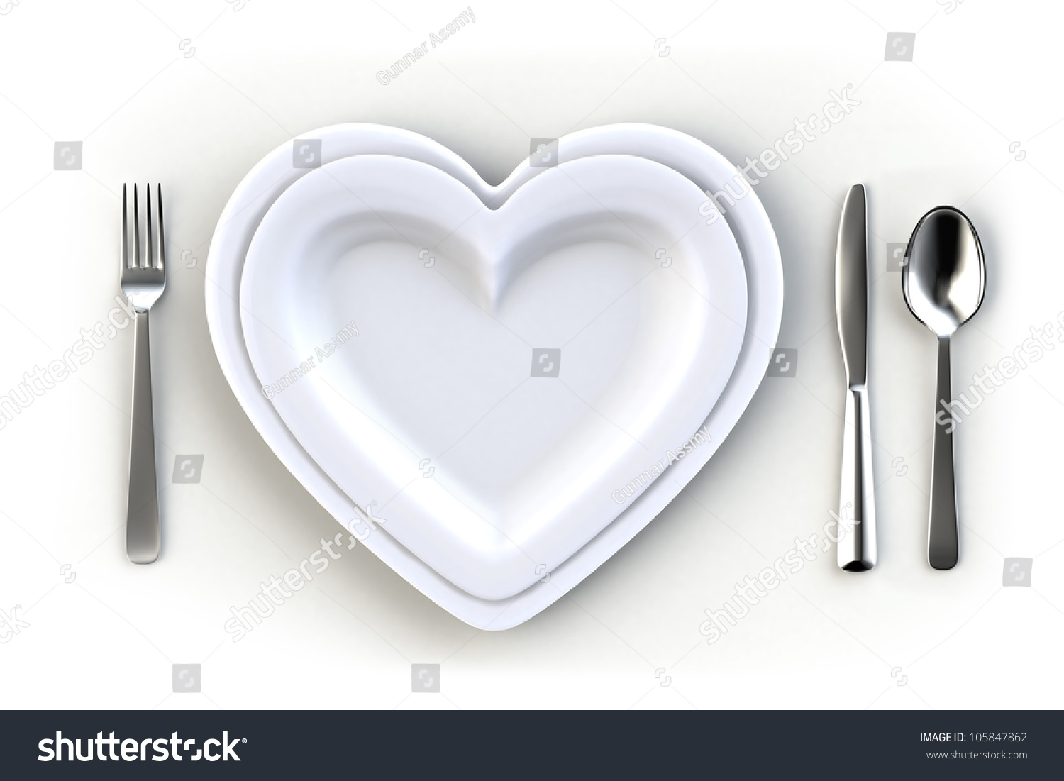 Heart Shaped Dish On White Table