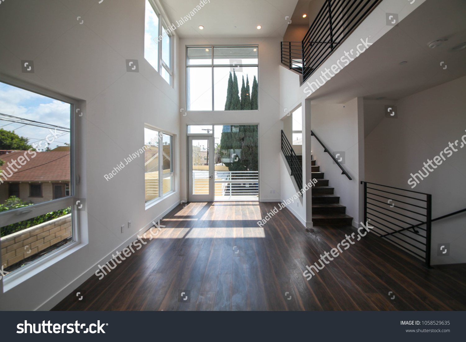 Los angeles california usa march 28 2018 new construction empty modern home