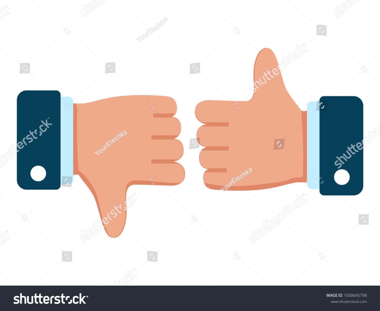Thumbs Down Icon Like Dislike Symbol Stock Vector Royalty Free