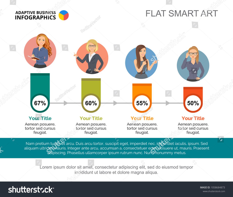 Percentage Infographic Design Editable Template Timeline Stock