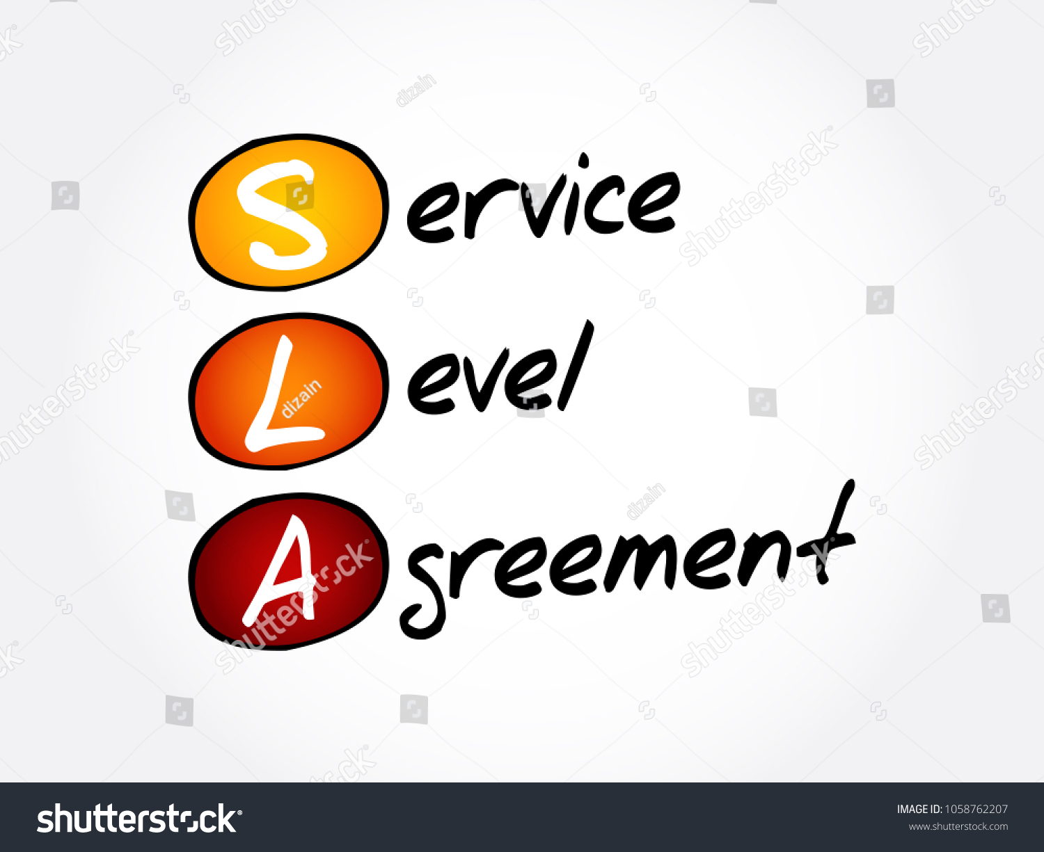 SLA   Service Level Agreement Acronym, Business Concept Background