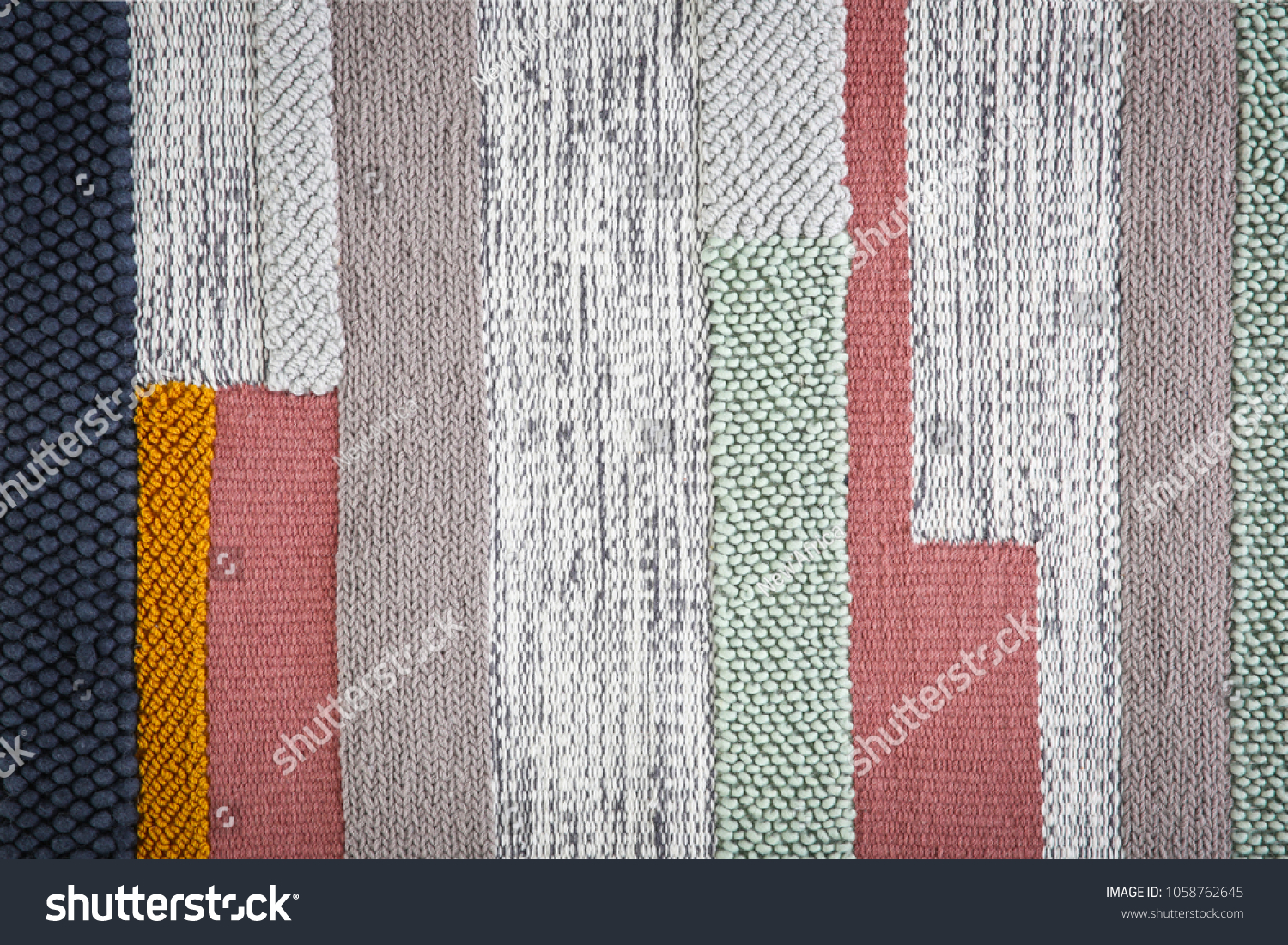 Colorful striped carpet as background #1058762645