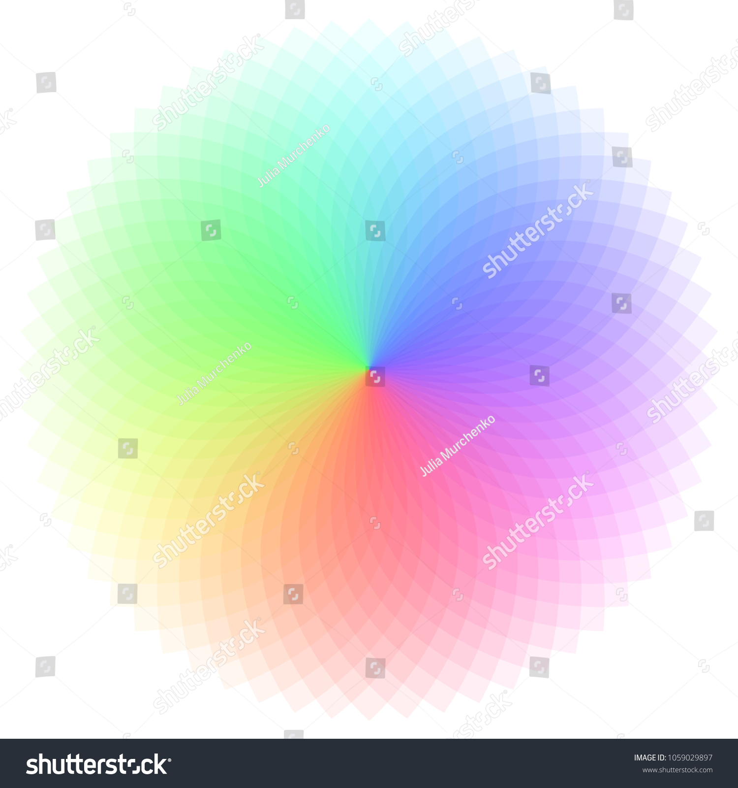 Rainbow Color Wheel Colorful Illustration Guide Stock Vector