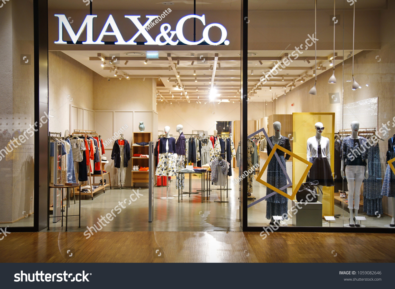605f72662c Milan Italy March 2018 Max Co Shop Stock Photo (Edit Now) 1059082646 ...