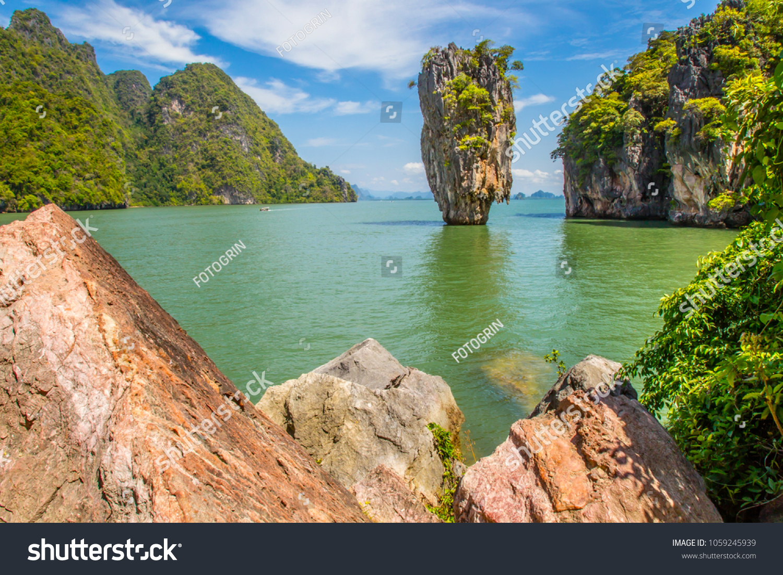 Thailand Sea Excursions Bond Island View Stock Photo (Edit